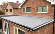 flat roofing house