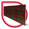 woodgrain roofline
